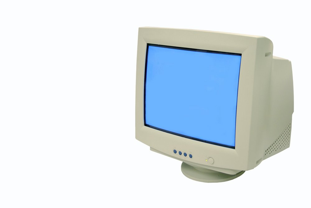white old monitor