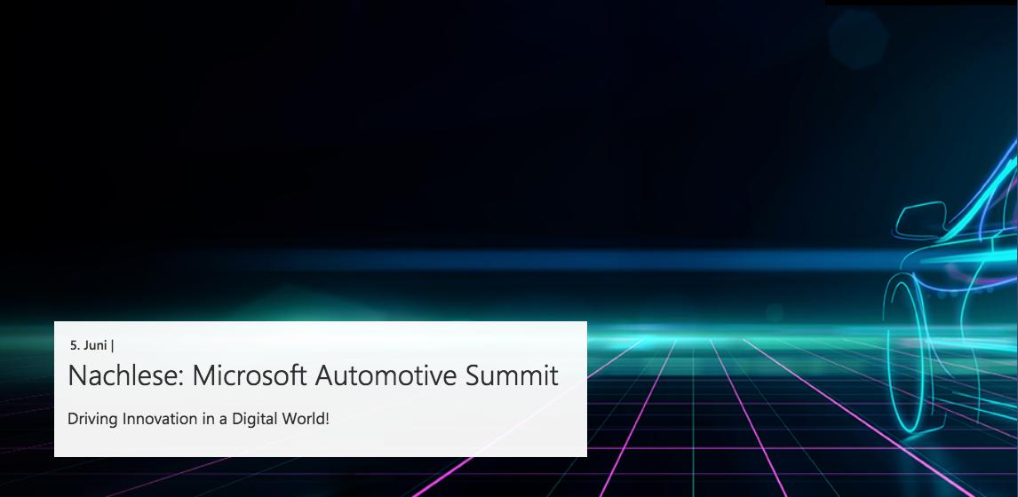 microsoft automotive summit